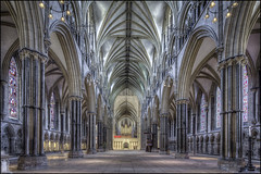 Lincoln Cathedral (Darwinsgift) Tags: lincolnshire lincoln cathederal nikkor 19mm f4 pc e tilt shift nikon d810 hdr photomatix indoor interior cathedral