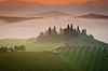 Val d'Orcia Landscapes (jaapromers) Tags: italy landscape agriturismo belvedere cypress cypresses dawn famous farmhouse fog italian mist orcia pienza podere sanquirico sunrise toscana travel tuscan tuscany valdorcia