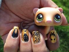 Ghibli Nails (flores272) Tags: ghiblinails nail stamping nailart nails nailpolish littlestpetshop lps outdoors toys toy