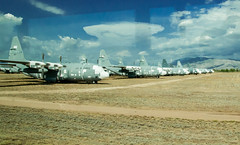 Tuscon Air Force Boneyard (12 of 25) (macfanmd) Tags: c130 yellow arizona aircraft boneyard airforce davismonthanafb afb vintageaircraft desert history historic military