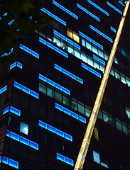 Shanghai - Blue And Yellow (cnmark) Tags: shanghai china nanjingwestroad 688 plaza building gebäude highrise blue yellow lines blau gelb linien facade fassade detail architecture architektur night light nacht nachtaufnahme noche nuit notte noite 中国 上海 南京西路 688广场 六八八广场 ©allrightsreserved