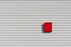 Red postbox (Jan van der Wolf) Tags: map173182v postbox postbus simple simpel minimalism minimalistic minimalisme red redrule rood lijnen lines wall muur facade shadow schaduw