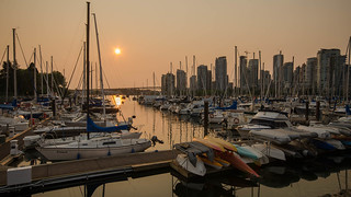 Wildfire Sunset at the Marina