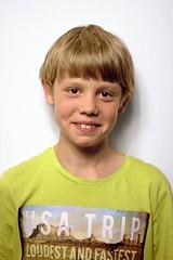 4519b (karel.seidl) Tags: boy child kid infant portrait headshot smile tshirt browneyed softlight caucasian browneyes