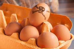 Poison eggs (jimj0will) Tags: tabletop eggs poison macro skull crossbones getty