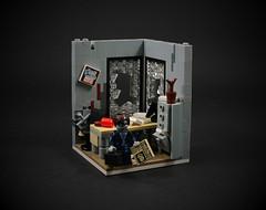 11 - Zombie Businessman (CeciΙie) Tags: lego moc zombie businessman office postapoc apocalypse filecabinet broken minifig cmf vignette vig collectible