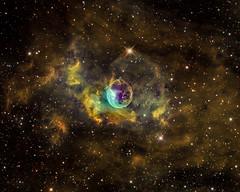 Bubble Nebula (NGC7635) NB in HST palette (Carballada) Tags: astrophotography astronomy deep space astro celestron zwo as1600mmc skywatcher ts sky qhy qhy5iii174 narrowband astrometrydotnet:id=nova2205871 astrometrydotnet:status=solved