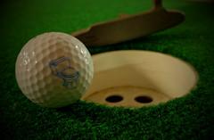 Bad Golf Game. (X70) (Mega-Magpie) Tags: fuji fujifilm x70 bad golf game ball cup putter green funny fun