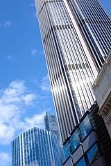 Glittering Towers (HonleyA) Tags: city cityscape building modernarchitecture architecture sky skyline uk greatbritain fuji fujifilm fujifilmxt10 fujinon fujinon27mm pancake prime