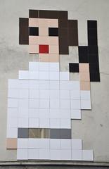 Space Invader (PA_1190) (Ausmoz) Tags: paris street art streetart rue urbain urban mur murs wall walls installation installations decal decals mosaic mosaique mosaiques space invader « invaders » tile tiles 75006 1190 pa1190