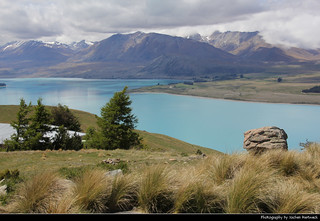 Lake Tekapo seen from Mount John Observatory, New Zealand