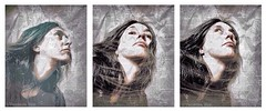 The Observer (Vanessa Vox) Tags: theobserver triptychs inthedailyflowofnews selfies newspapers vanessavox