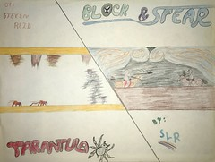 Tarantula and Block & Spear (SafePit) Tags: artwork zx81 game