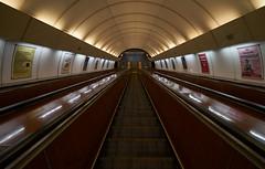 U-Bahn Station, Prague (swissukue) Tags: metrostation ubahnstation prag praha prague europe stairs