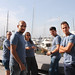 El joven equipo de SmartSea que ha hecho posible SmartBoat desde el centro de start-ups Pier 01 Barcelona Tech City, situado delante del Port Vell barcelonés. Foto: SmartSea.