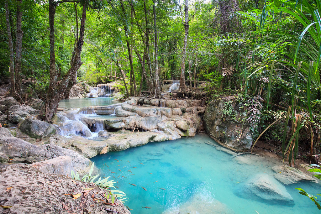 Erawan national park. Thailand