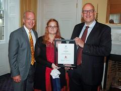 NOVA SCOTIA/NOUVELLE-ÉCOSSE: Award recipient/lauréat Jocelyne Boutilier, with/avec Honourable Mark Furry, Minister of Justice et l'honorable Labi Kousoulis, ministère du Travail et de l'Éducation supérieure