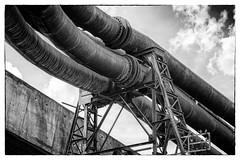 Pipeline (Guy Goetzinger) Tags: architektur hochofen industrie uckange grandest frankreich fr nikon d800 goetzinger pipeline rohr conduite monster blackandwhite bw sw industry plant fabrik fabric bottomup heavy