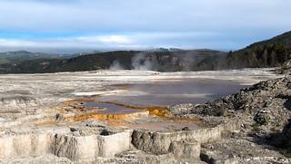 Mammoth Hot Springs Panorama