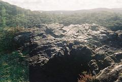 Teign Valley 5 (avenwildsmith) Tags: film 35mm nature devon countryside landscape analog analogue kodak retinette 1b grain england britain wild wilderness double exposure stone rock valley teign horizon view 35mmfilm kodakretinette1b