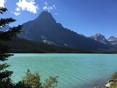 Seen on the drive back to Vancouver on the scenic Banff-Jasper Hwy in gorgeous weather (peggyhr) Tags: peggyhr waterfowllake travel mountains lake rockflour blue trees alberta canada carolinasfarmfriends thelooklevel1red super~sixbronze☆stage1☆