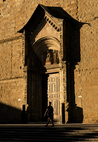 Street Photography in the historical City Centre, Cathedral of Arezzo