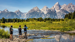 Viewing the Teton Range (Sky Noir) Tags: jackson hole grand tetons national park landscape people men woman outdoor nature mountains