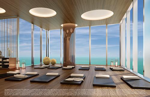 Turnberry Ocean Club-Sunny Isles Beach-Yoga Room
