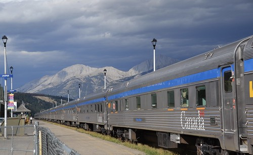 Three Passenger Trains in Jasper