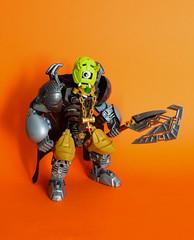 Borgzohg, the ogre prince (Loysnuva) Tags: lego moc ogre system technic bionicle hero factory custom black grey gold axe monster prince original loysnuva bionifigs silver