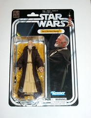 obi-wan kenobi star wars the black series 6 inch figure collection 40th anniversary packaging a new hope basic action figures 2017 hasbro mosc 2a (tjparkside) Tags: ben obi wan kenobi star wars black series 6 inch figure collection 40th anniversary packaging new hope basic action figures 2017 hasbro lightsaber hilt blade weapon weapons cloak jedi robe hood sir alec guinness mosc obiwan anh tatooine disney first 1st twelve 12 cardback card vintage style back