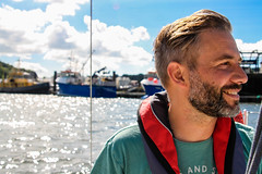 Hoping for wind (NikNak Allen) Tags: plymouth devon sailing boat water sea ocean sky cloud clouds wire portrait