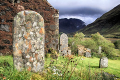 Ancient graves and lichens (OutdoorMonkey) Tags: ruin ruined derelict abandoned church stdubhthach saintduthac morvich highlands scotland clanmacrae