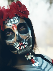 Dia de los muertos (Riveting Imagery) Tags: ifttt 500px beauty eyes strange beautiful halloween woman makeup cosplay creepy costume make up sugar skull red lips dia de los muertos portrait face painting facepaint mythical ice queen dark photography redding northern california brunette