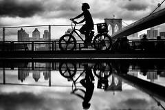 puddlegram (d26b73) Tags: street streetphotography noiretblanc urbanarte bw monochrome reflection silhouette blackandwhite