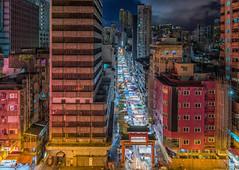 Night Market - Explored (rahe.johannes) Tags: hongkong nightmarket nachts architektur stadt lichter strasenschlucht