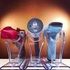 Pistol Stands (WEBmikey) Tags: toys startrek phaser klingon disruptor playmates