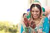 Blushing Bride (-gunjan) Tags: love wedding couple weddingphotography sikhceremony sikh shaadi vyah happiness lehnga bride groom turban colourful colorful colours colors laugh mehndi henna bridal jewelry jewls tikka