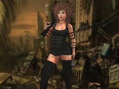 Rule The World (Xan Baran) Tags: secondlife apocolypse dress zenith harness realevil bracelet rings boots ncore iconic lelutka glamaffair tattoo identity maitreya guns xans