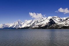 Clouds Over Tetons (rschnaible) Tags: grand teton national park us usa wyoming west western outdoors landscape jackson lake snow mountains water