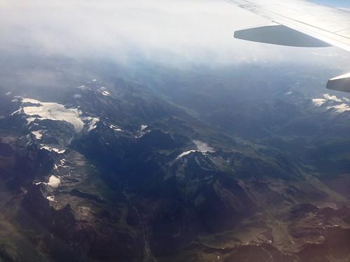 Flying over Italian Alps