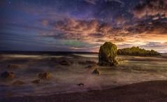 Dunure Aurora (Photeelover) Tags: northernlights aurora night seascape scotland ayrshire dunure