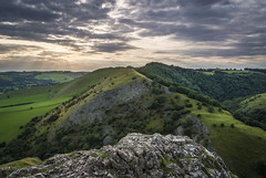 Thorpe Cloud (marc_leach) Tags: peakdistrict landscape dovedale thorpecloud summer sunset sky clouds green rocks nikon