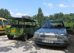 Citroen Mehari and Peugeot 309 GRD (Spottedlaurel) Tags: citroen mehari peugeot 309