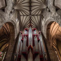Organ (burnsmeisterj) Tags: olympus omd em1 roof structure cathedral stgiles edinburgh scotland architecture organ