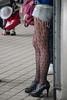 fishnet stockings (kasa51) Tags: fishnetstockings leg foot woman tokyo japan highheels 網タイツ 足 ハイヒール shoes feet