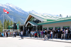 Banff Gondola Station (Canadian Pacific) Tags: banff alberta canada canadian national park town mountain mountains rockies rocky range gondola mount sulphur tourist tourists building architecture 2017aimg9899 station
