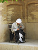 Mullah in a Madrassah (Chiara Cst) Tags: iran people madrassah mullah