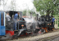 Pushmi-Pullyu (White Pass1) Tags: becconsall westlancslightrailway heskethbank stanhope utrillas steamlocos narrowgauge steam smoke westlancashire