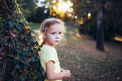In Park 2 (mravcolev) Tags: girl child sunset bokeh flare park tree ivy naturallight portrait canoneos5dmarkii 5dmkii 35l canonef35mmf14lusm